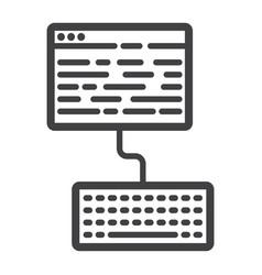 copywriting line icon seo and development vector image vector image