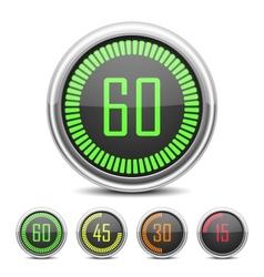 Digital Countdown Timer vector image vector image