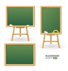 Green Board Set Different View vector image