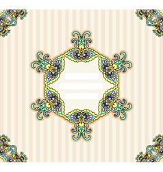 Invitation template ornamental vector image vector image