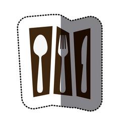 print cutlery tools icon vector image