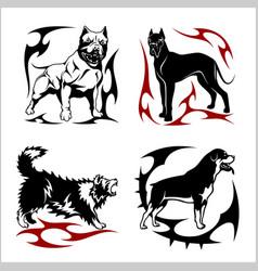 tribal dog design - vector image