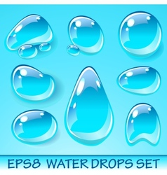 Water Drops Icon Set vector image vector image
