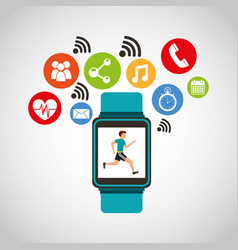 wearable technology with healthy lifestyle vector image