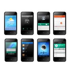 Mobile ui design vector image vector image