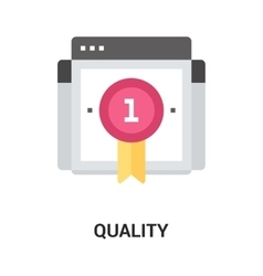 quality icon concept vector image vector image