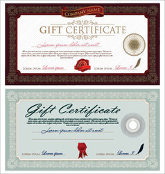 Vintage Certificate vector image vector image