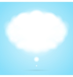 Abstract cloud speech bubble vector image vector image