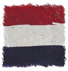 Flag of Netherlands handmade square shape vector image vector image