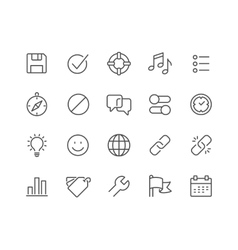 Line Interface Icons vector image vector image
