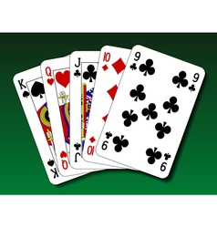 Poker hand - Straight vector image vector image