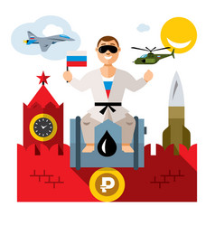 russia travel concept flat style colorful vector image vector image
