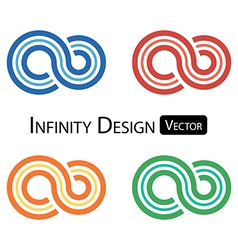 Set of colorful infinity symbol vector image vector image