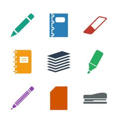 9 pencil icons vector