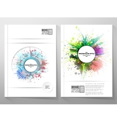 Abstract circle white banners with place for text vector image