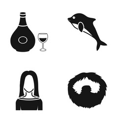 Alcohol hairdresser and or web icon in black vector