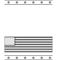 american flag national stars border background vector image