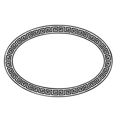 Ancient greek frame vector