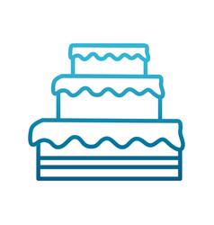 big cake dessert vector image
