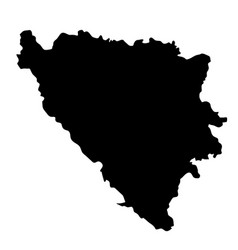 Black silhouette country borders map of bosnia vector