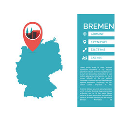 Bremen map infographic vector