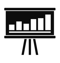 business strategy icon simple style vector image