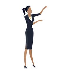 businesswoman in flat design vector image
