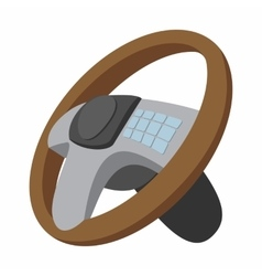 Car steering wheel cartoon vector