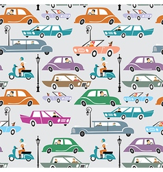 Cars in city vector