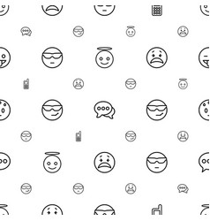 Chat icons pattern seamless white background vector