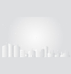 cityscape with stars paper art style vector image