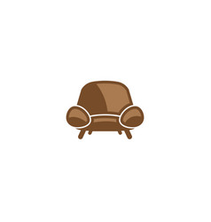 classical chair without arms for logo design vector image