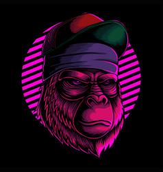 cool gorilla head vector image