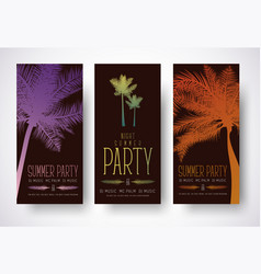 design minimalist flyers for a summer party vector image