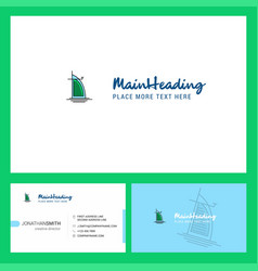 dubai hotel logo design with tagline front and vector image