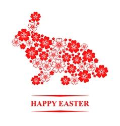 Easter flower hare vector