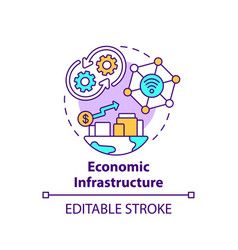 Economic infrastructure concept icon vector