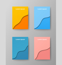 elegant colorful brochures covers vector image