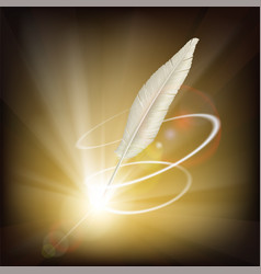feather for writing vector image