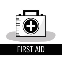 First aid kit briefcase to healthcase vector