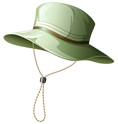 Fishing hat vector image