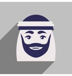 Flat icon with long shadow Arab men vector
