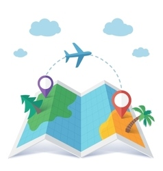 Flight destination concept in flat style vector image
