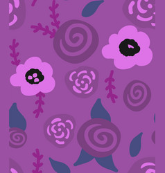 floral seamless background of flax plant vector image