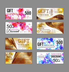Gift voucher template pack can be use for vector