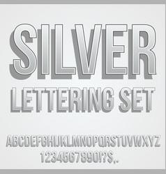 Gray silver font vector
