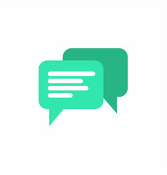 green chat icon vector image