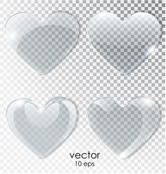 heart of glass plate with a transparent background vector image