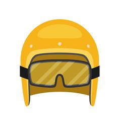Helmet motorcycle flat style vector