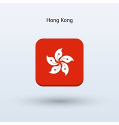 Hong Kong flag icon vector